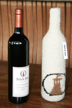 Knitted with Brick bays logo on the cozy Bays, Brick, Cozy, Bottle, Home Decor, Decoration Home, Berries, Room Decor, Flask