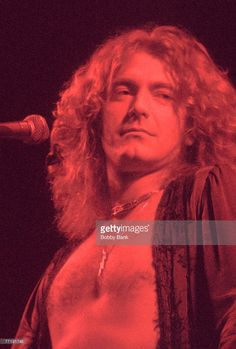 Robert Plant of Led Zeppelin by Bobby Bank.