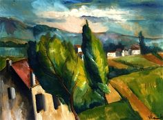 View of a Village with Red Roofs, 1912 Maurice de Vlaminck