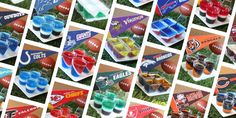 Sport your spirit with what every tailgate really needs: Jell-O shots in your NFL team's colors.