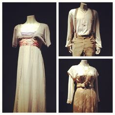 Authentic costumes worn by Kate Winslet and Leonardo DiCaprio in James Cameron's Titanic (1997)