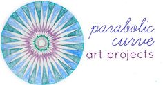 Fun math art project for kids that creates gorgeous designs using parabolic curves made with straight lines. Math and Art learning together.