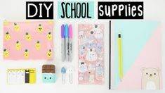 DIY SCHOOL SUPPLIES For Back To School! nim c - Google Search