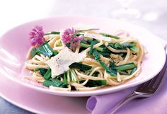 Linguini with Garlic, Chives and Rosemary Oil...Fresh Pasta Dishes for Spring and Summer