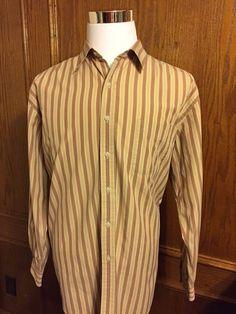 AUSTIN REED LONDON Dress Shirt Cotton Mens Size XL 17/35 Long Sleeve Striped #AustinReed