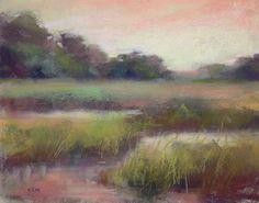 Pastel Landscapes | Morning Glow 11x14 pastel landscape, original painting by artist Karen ...