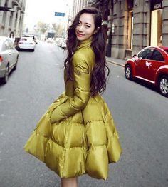 News Fashion womens winter Parka A-lined duck down coat jacket Puffer Parka US M   eBay