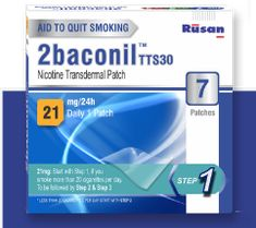 2baconil Nicotine One Month 21mg Patch Therapy · 21 mg is the starting strength for a person who smokes more than 20 cigarettes per day. Use one patch a day . State Holidays, Nicotine Patch, One Month, Natural Disasters, Smoking, Patches, Strength, Therapy, One Month Old