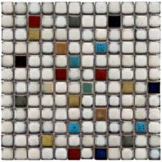 Essence Square Cascade 12-1/2 in. x 12-1/2 in. Multicolor Ceramic Mesh-Mounted Mosaic Tile-FSDESQCS at The Home Depot