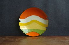Mid Century Modern Abstract Enamel Dish By C Jere by JunkHouse, $145.00