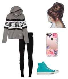 """""""Leggings and converse life🤘🏻"""" by dancer0202 on Polyvore featuring NIKE, Victoria's Secret, Converse and Casetify"""