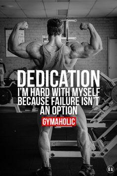 Failure is not an option ! Calum von Moger http://www.gymaholic.co #fit #fitness #fitblr #fitspo #motivation #gym #gymaholic #workouts #nutrition #supplements