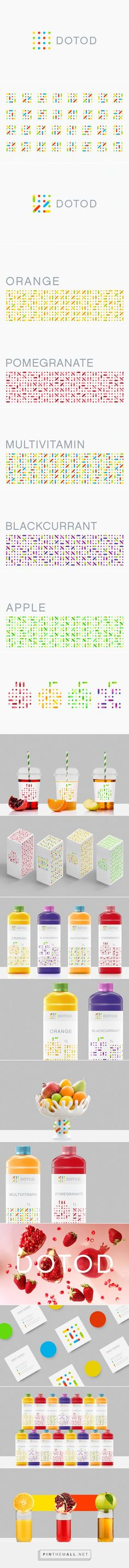 DOTOD #fruitjuice #packaging designed by Ramin Nasibov - http://www.packagingoftheworld.com/2015/07/dotod.html