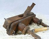 Vintage wood plane - Antique wood plane - Rustic wooden decor - Old wood tools - Vintage wooden planer - Woodworking hand plane