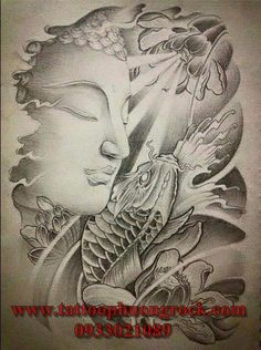 Koi Tattoo Design, Buddha Tattoo Design, Sleeve Tattoos, Body Art Tattoos, Arm Tattoos, Japanese Tattoo Art, Japanese Art, Tatoo Art, Tattoo Drawings