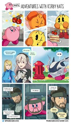 Adventure with Kirby hats 2 Super Smash Bros Memes, Nintendo Super Smash Bros, Super Mario Bros, Games Memes, Video Games Funny, Funny Games, Zelda, Geeks, Super Smash Ultimate