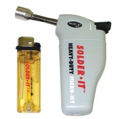 Butane Torch Heavy Duty Extended Nozzle Palm Sized Automatic Windproof Ignition Child Resistant