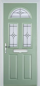 2 Panel 2 Square 1 Arch Composite Front Doors