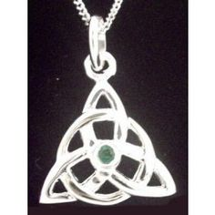 Triquetra Necklace from glencara.com  http://www.glencara.com/jewelry/celtic-necklace/14k-gold-solid-silver-emerald-irish-celtic-knot-pendant.html