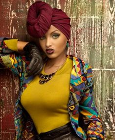 Best use of Turban, ever African Beauty, African Women, African Fashion, Tribal Fashion, High Fashion, Lola Monroe, Head Wrap Scarf, Head Scarfs, Scarves