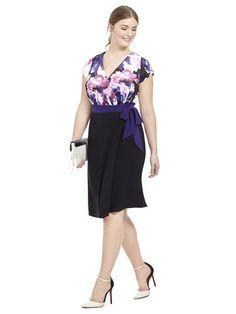 Plus Size IGIGI Braylee Dress In Purple Floral