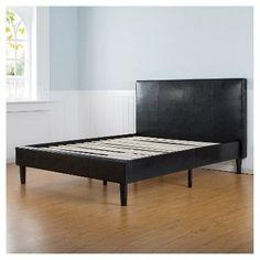 Sleep Revolution Platform Bed - PU Dark Brown Queen size