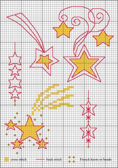 Stars for Christmas, designed by Lesley Teare, from her blog.
