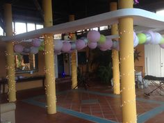 The atrium at Blue Horizon Boutique Resort makes the perfect dance floor. Lights and lanterns help the floor shine, so guests can boogie all night long!
