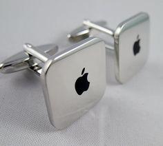 Mens Cufflinks- Copper Fashion Cufflinks, Mac Mini Design, with a Gift Box