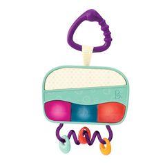 Underholdende og sansestimulerende aktivitetslegetøj fra B Toys. Bestil babyradio m. lysende knapper, 6 melodier og bideringe online her. God gaveidé til børn fra 3 mdr. Køb direkte her.