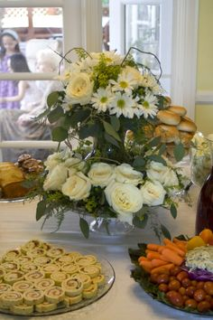 Bridal Shower Brunch, food table centerpiece