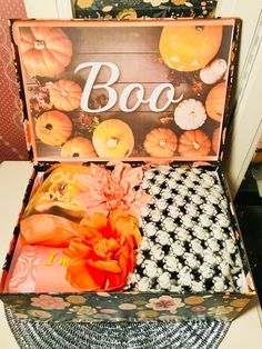 Custom Care Package, Personalized Gifts, Gift Boxes by YouAreBeautifulBox Halloween Boo, Halloween Gifts, Halloween College, Halloween Ideas, Custom Printed Boxes, Custom Boxes, You've Been Booed, Halloween Care Packages, Perfect Gift For Girlfriend