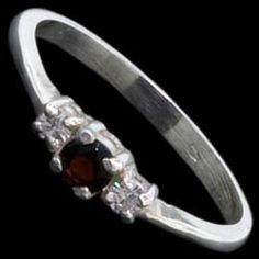 Silver ring, CZ,  elegant Silver ring, Ag 925/1000 - sterling silver. With stones (CZ - cubic zirconia). A fine ring with three round zircons set in silver.