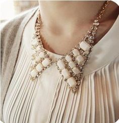 1PCS fashion Vintage Crystal Angel Wings Bib Chain Necklace free ship hot