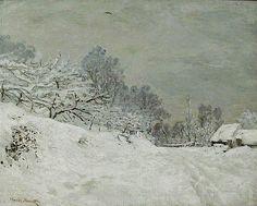 Le Prince Lointain: Claude Monet (1840-1926), Neige près de Honfleur -...
