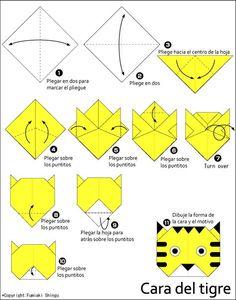 Origami Cara del tigre