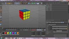 Speed tutorial in Cinema 4D (Rubik's cube)