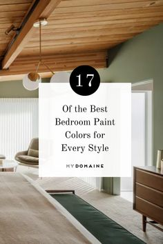 This sage green hue gives this bedroom a nice, organic touch. Take a look at these additional paint colors if you're in need of some ideas for a room transformation.