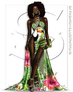 Covet Fashion, Fashion Art, Fashion Outfits, Womens Fashion, Fashion Design, African Inspired Clothing, Gypsy Rose, Drawing Clothes, My Black Is Beautiful