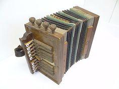 Antique Clarion Accordion Music German Musical Instrument Wood Sound Box Parts | eBay