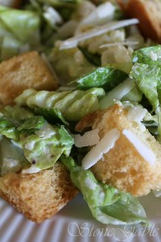 Fresh Caesar Salad- Might try this one in a mason jar to keep everything fresh!