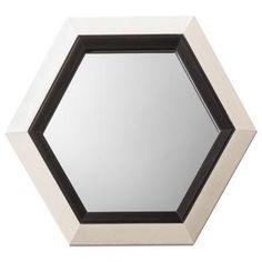 Threshold Two Tone Hex Mirror Black/Ivory I Target