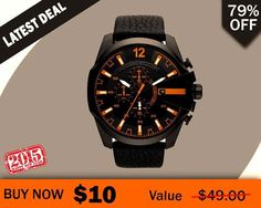 Best Daily #Deals at ChinaBestBuys.com The World's Favorite #Shopping Destination  Fashionable Men's Watches Black #Leather Band #Watch BUY NOW for just $10.00 Worldwide Delivery Directly To Your Door  Limited Offer - Visit this Deal here:http://bit.ly/Black_leather_band_watch