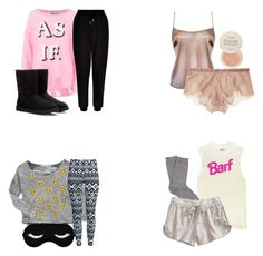 """""""Aria Montgomery sleepwear - pll / pretty little liars"""" by shadyannon ❤ liked on Polyvore featuring Falke, Lucky Brand, Wildfox, Fresh, Vintage Havana, H&M, New Look, Carine Gilson and UGG Australia"""