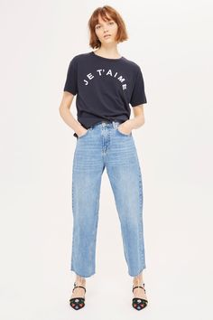 'Je'Taime' Embroidered T-Shirt - T-Shirts - Clothing - Topshop