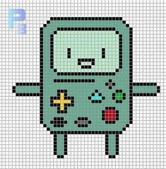 BMO Adventure Time perler pattern - Patrones Beads / Plantillas para Hama
