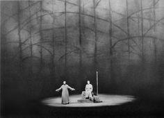 """"""" Parsifal """" 3.Aufzug 1.Bild 1966 Wieland Wagner Bühnenphoto"""
