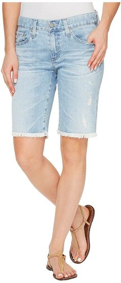 AG Adriano Goldschmied Nikki Shorts in 24 Years Relief (24 Years Relief) Women's Shorts - AG Adriano Goldschmied, Nikki Shorts in 24 Years Relief, LED1604-FH-481, Apparel Bottom Shorts, Shorts, Bottom, Apparel, Clothes Clothing, Gift, - Street Fashion And Style Ideas