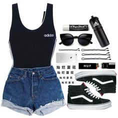 A fashion look from October 2014 featuring adidas, Levi's shorts and Vans sneakers. Browse and shop related looks.