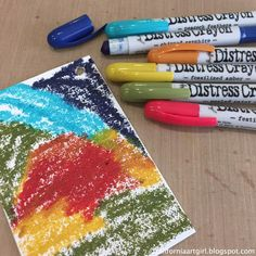 Hello friends! Today I have more inspiration with the Tim Holtz Distress Crayons! I really love the versatility of the Crayons, how they re...